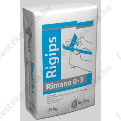Rigips RIMANO 0-3 mm 25 kg glettelőgipsz beltéri