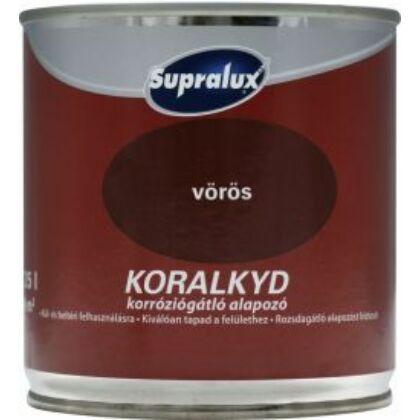 Supralux KORALKYD alapozó 0,25 l  korróziógátló  vörös