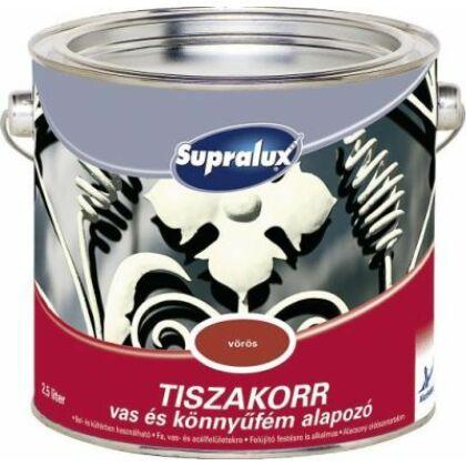 Supralux TISZAKORR vas és könnyűfém alapozó 2,5 l vörös