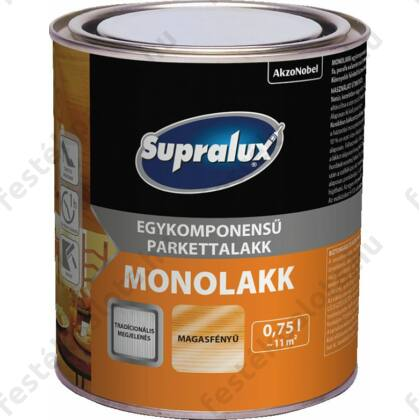Supralux MONOLAKK parkettlakk 0,75 l mf. 1 komponensű