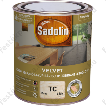 Sadolin Velvet vízes lazúr TC 2,5 l bázis