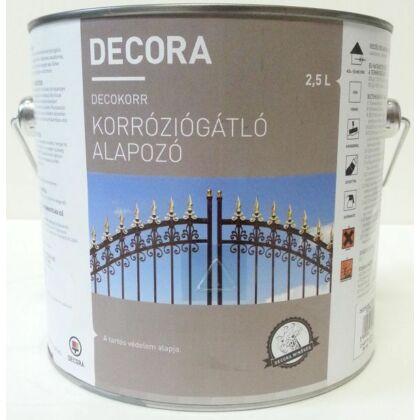 DECORA korróziógátló alapozó 2,5 l vörös