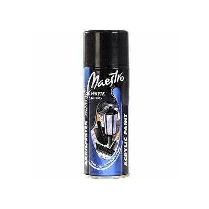 Maestro akrilfesték 400 ml aer. 9005 fekete