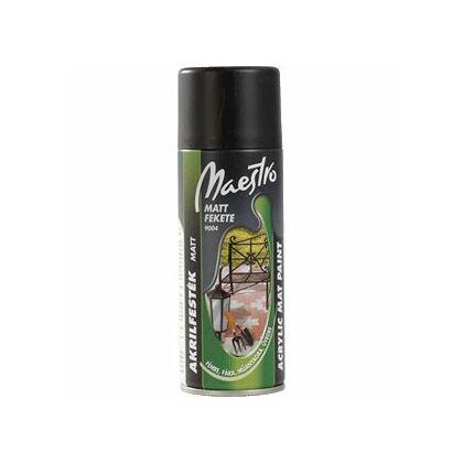 Maestro akrilfesték 400 ml aer. 9004 fekete matt