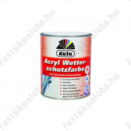DÜFA Időjárásálló festék 0,75 l sötétbarna (Acryl Wetterschutzfarbe)
