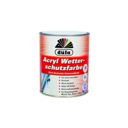 DÜFA - Magas fedőképességű univerzális időjárásálló akril festék 2,5 l fekete - Acryl-Wetterschutzfarbe