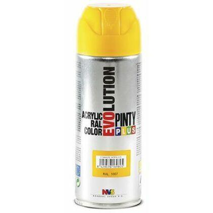 PINTY PLUS Evolution akril festék 400 ml fényes RAL 1021 sárga
