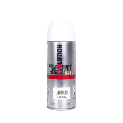 PINTY PLUS Evolution akril festék RAL 9016 közlekedési fehér 400 ml