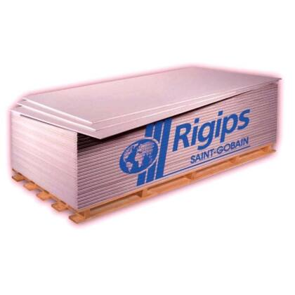 Rigips Tűzgátló Gipszkarton RF 12,5 mm x 1250 x 200 2,5 m2 / tábla