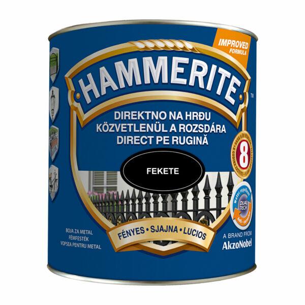 Hammerite fémfesték 2,5 l fényes fekete