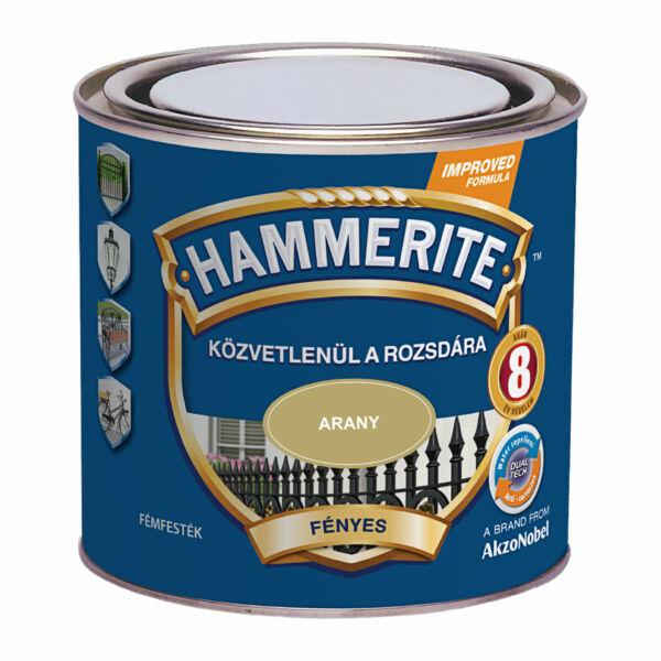 Hammerite fémfesték 0,25 l fényes arany