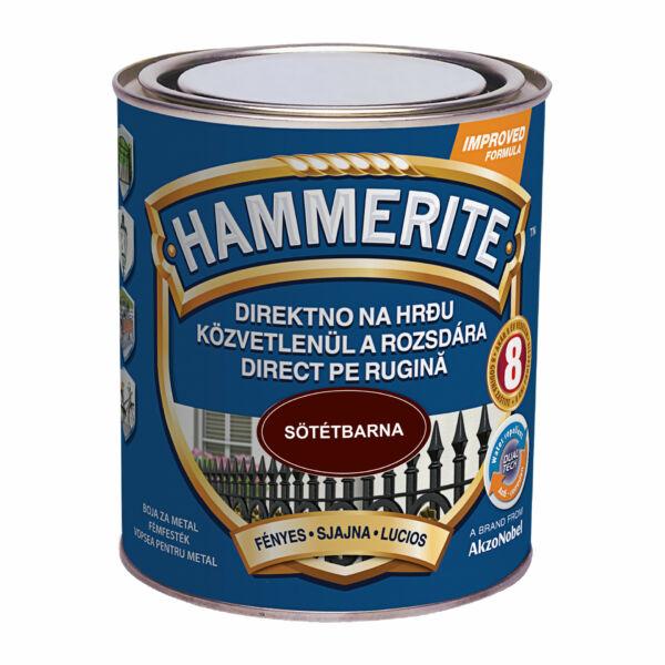Hammerite fémfesték 0,75 l fényes sötétbarna