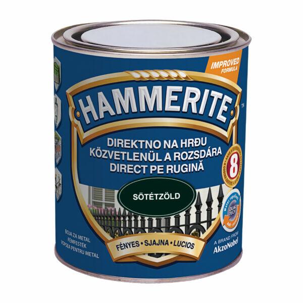 Hammerite fémfesték 0,75 l fényes sötétzöld