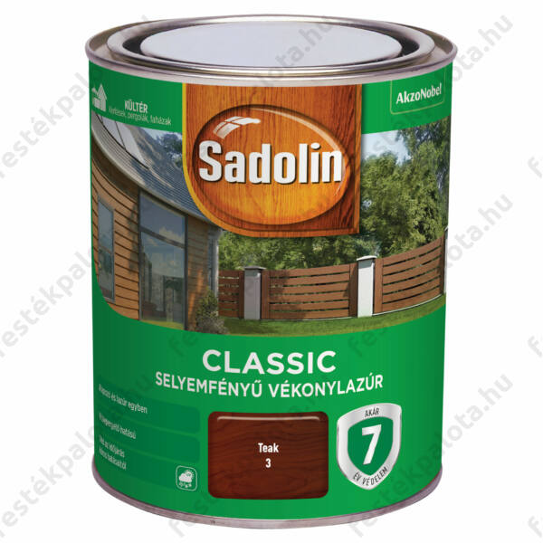 Sadolin CLASSIC vékonylazúr 0,75 l teak
