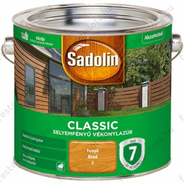 Sadolin CLASSIC vékonylazúr 2,5 l dió