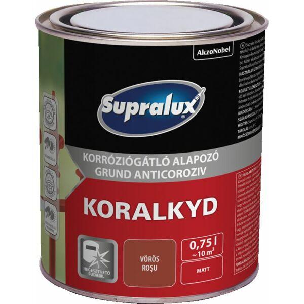 Supralux KORALKYD korróziógátló alapozó 0,75 l vörös