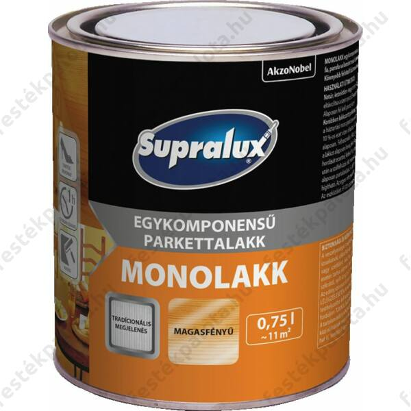 Supralux MONOLAKK parkettlakk 0,75 sf. 1 komponensű
