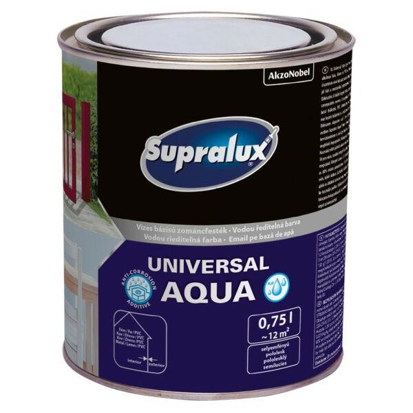 Supralux universal Aqua zománc festék sf. fehér 0,75 l