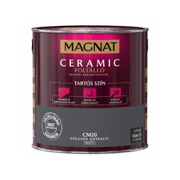 Magnat Ceramic 2,5 l Stílusos antracit CM20 foltálló beltéri kerámiafesték AKCIÓ