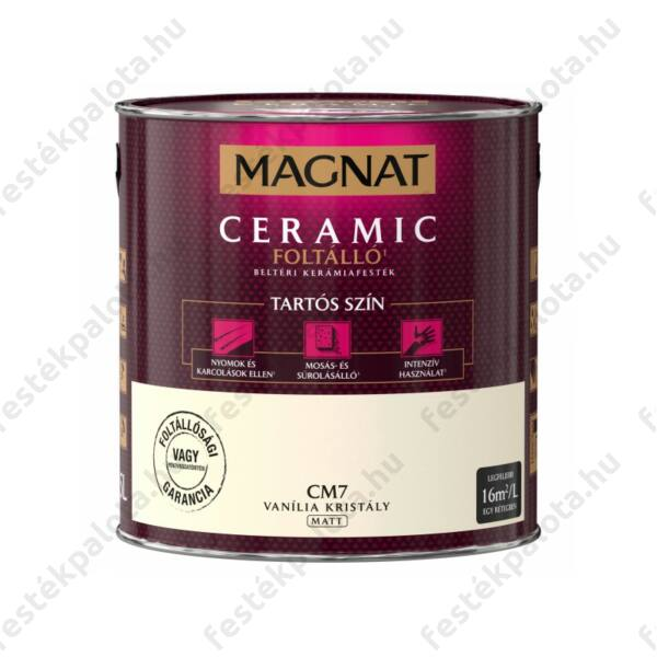 Magnat Ceramic 2,5 l Vanília kristály CM7 foltálló beltéri kerámiafesték AKCIÓ